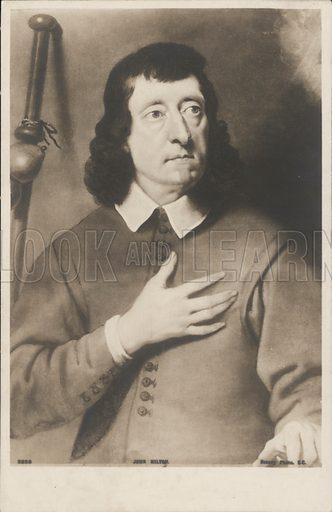 John Milton (1608-1674), English poet and author of Paradise Lost. Postcard, early 20th century.