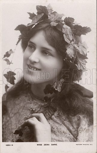 Zena Dare (1887-1975), English singer and actress. Postcard, early 20th century.