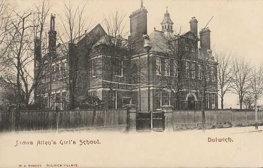 James Allen's Girls' School, Dulwich, London. Postcard, early 20th century.