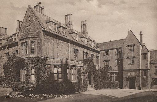 Headmaster's House, Sherborne School, Dorset. Postcard, early 20th century.