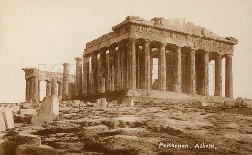 Parthenon, Athens, Greece. Postcard, early 20th century.