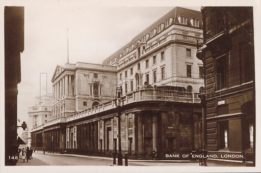 Bank of England, London. Postcard, early 20th century.