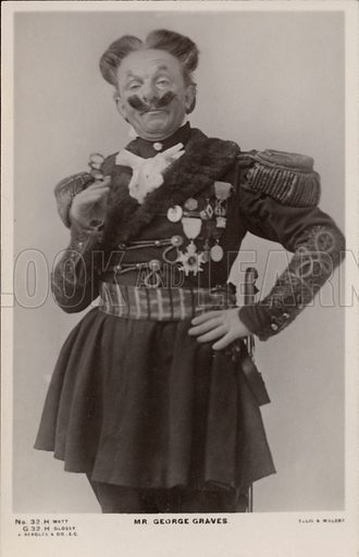 George Graves, English comic actor. Postcard, early 20th century.