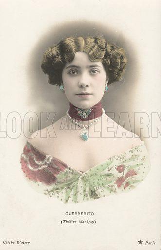 Guerrerito (Enriqueta Guerrero), Spanish dancer at the Theatre Marigny, Paris. Actress from the Theatre Marigny, Paris. Postcard, early 20th century.