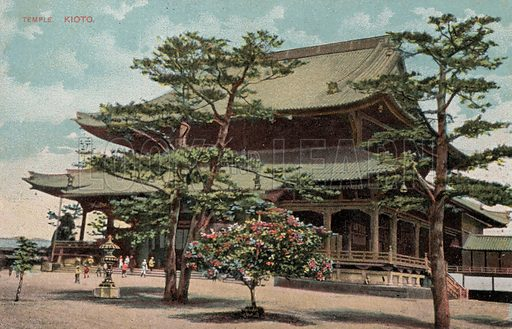 Temple, Kyoto, Japan. Postcard, early 20th century.