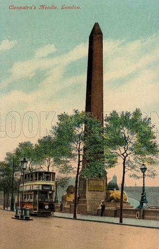 Cleopatra's Needle, Victoria Embankment, London. Postcard, early 20th century.