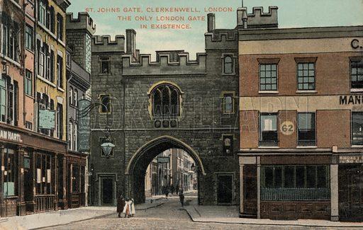 St John's Gate, Clerkenwell, London. Postcard, early 20th century.