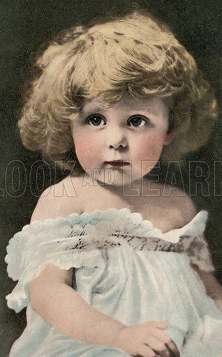 Portrait of a young child. Postcard, early 20th century.