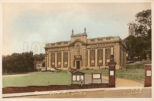 The Art Gallery, Lincoln, Lincolnshire. Postcard, early 20th century.