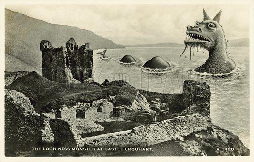 The Loch Ness monster at Castle Urquhart