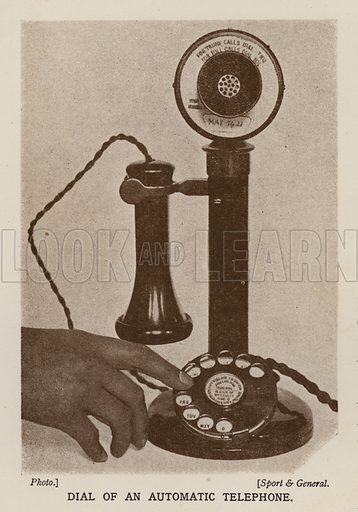 Dial of an automatic telephone. Illustration from The Wonder Book of Science (Ward, Lock & Co, Limited, London and Melbourne, c1935).