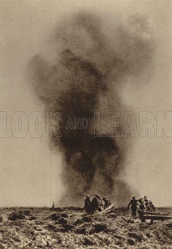 Retrieving British wounded under heavy German fire, Battle of the Somme, France, World War I, 1916. Illustration from Der Weltkrieg im Bild (Verlag Der Weltkrieg Im Bild, Munich, c1928).