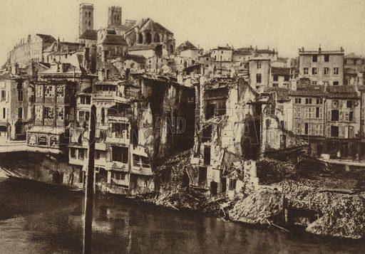 View of Verdun, France, showing buildings damaged by German shellfire, World War I, 1916. Illustration from Der Weltkrieg im Bild (Verlag Der Weltkrieg Im Bild, Munich, c1928).