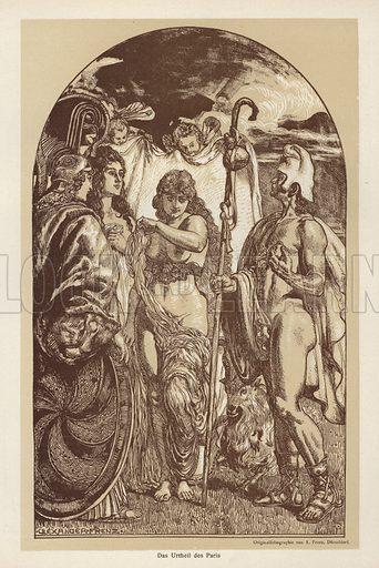 The Judgment of Paris. Illustration from Jugend, Muenchner Illustrierte Wochenschrift fur Kunst und Leben (G Hirth's Kunstverlag, Munich and Leipzig, 1896).