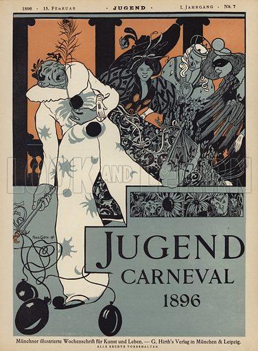Carnival. Cover illustration from Jugend, Muenchner Illustrierte Wochenschrift fur Kunst und Leben (G Hirth's Kunstverlag, Munich and Leipzig, 15 February 1896).