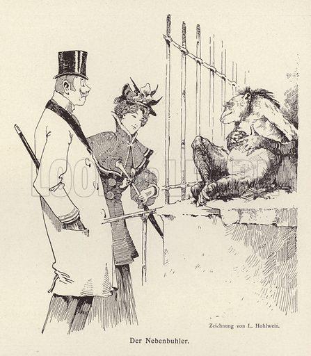 The Rival. Illustration from Jugend, Muenchner Illustrierte Wochenschrift fur Kunst und Leben (G Hirth's Kunstverlag, Munich and Leipzig, 1896).