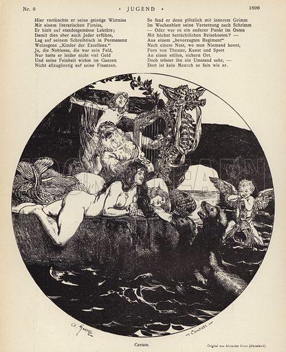 Cantate. Illustration from Jugend, Muenchner Illustrierte Wochenschrift fur Kunst und Leben (G Hirth's Kunstverlag, Munich and Leipzig, 29 February 1896).