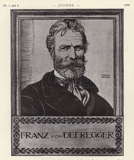 Franz von Defregger (1835-1921), Austrian artist. Illustration from Jugend, Muenchner Illustrierte Wochenschrift fur Kunst und Leben (G Hirth's Kunstverlag, Munich and Leipzig, January 1896).