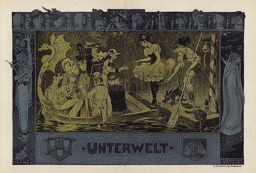 The Underworld. Illustration from Jugend, Muenchner Illustrierte Wochenschrift fur Kunst und Leben (G Hirth's Kunstverlag, Munich and Leipzig, 1896).