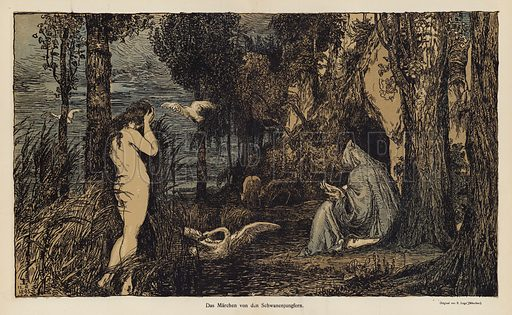 The Tale of the Swan Virgin. Illustration from Jugend, Muenchner Illustrierte Wochenschrift fur Kunst und Leben (G Hirth's Kunstverlag, Munich and Leipzig, 1896).