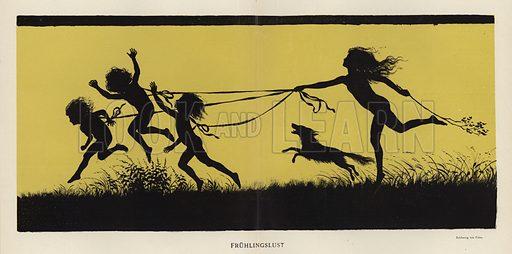 The Joys of Spring. Illustration from Jugend, Muenchner Illustrierte Wochenschrift fur Kunst und Leben (G Hirth's Kunstverlag, Munich and Leipzig, 1896).