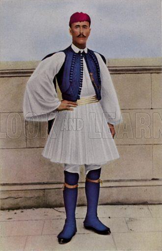 Spyridon Louis (1873-1940), Greek athlete and winner of the marathon at the 1896 Athens Olympics, guest of honour at the 1936 Berlin Games. Illustration from Die Olympischen Spiele 1936 (Cigaretten-Bildendienst Hamburg-Bahrenfeld, 1936).