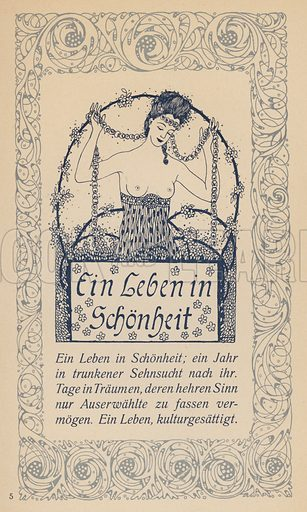 A Life in Beauty. Illustration from Ein Leben in Schonheit, Oskar Wilde Kalender fur das Jahr 1908 (Hermann Seemann Nachf, Berlin and Leipzig, 1907).