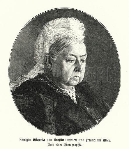 Queen Victoria (1819-1901) in old age. Illustration from Panorama der Weltgeschichte, by M Reymond (Internationaler Weltverlag, Berlin, c1905).