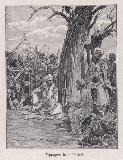 Prisoners of the Mahdi, Sudan, late 19th Century. Illustration from Panorama der Weltgeschichte, by M Reymond (Internationaler Weltverlag, Berlin, c1905).