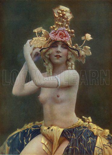 Chrysis, dancer at the Folies Bergere, Paris. Illustration from La Revue des Folies Bergere - Un Soir de Folie (Paris Art Editions, 1925).