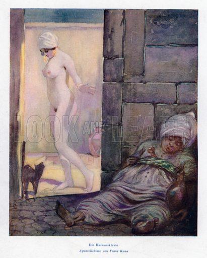 The Harem Slave. Illustration from Das Weib als Sklavin, by Dr Joachim Welzl (Verlag fur Kulturforschung, Vienna and Leipzig, 1929).