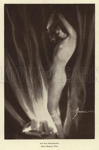 At the Stake. Illustration from Das Weib als Sklavin, by Dr Joachim Welzl (Verlag fur Kulturforschung, Vienna and Leipzig, 1929).