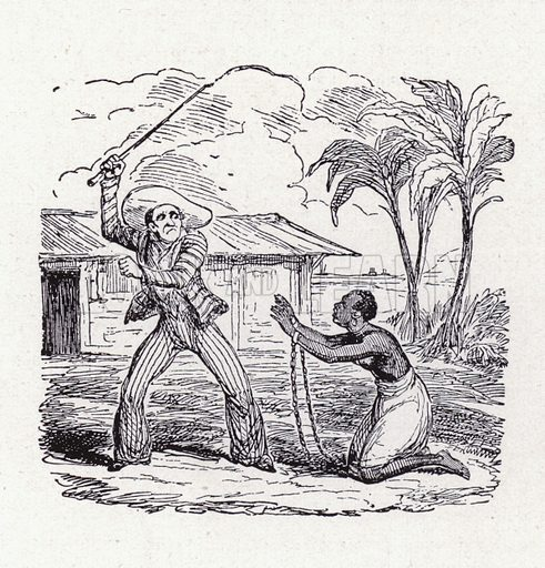 Black woman slave being whipped by an overseer. Illustration from Das Weib als Sklavin, by Dr Joachim Welzl (Verlag fur Kulturforschung, Vienna and Leipzig, 1929).