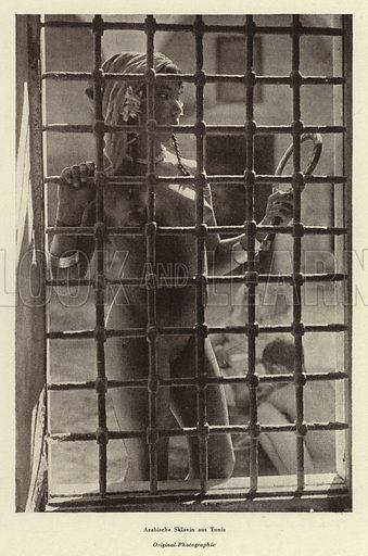 Arab slave girl from Tunis. Illustration from Das Weib als Sklavin, by Dr Joachim Welzl (Verlag fur Kulturforschung, Vienna and Leipzig, 1929).