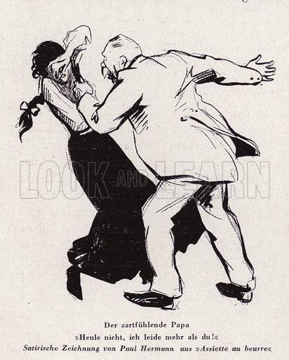 The Tender Father. Illustration from Das Weib als Sklavin, by Dr Joachim Welzl (Verlag fur Kulturforschung, Vienna and Leipzig, 1929).