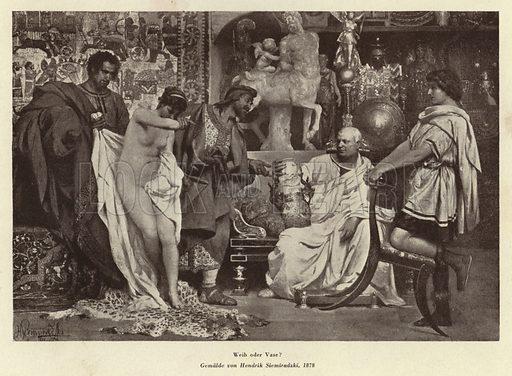 Woman or Vase?, 1878. Illustration from Das Weib als Sklavin, by Dr Joachim Welzl (Verlag fur Kulturforschung, Vienna and Leipzig, 1929).