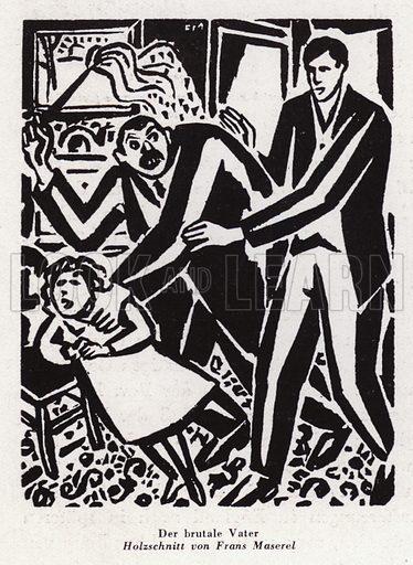 The Brutal Father. Illustration from Das Weib als Sklavin, by Dr Joachim Welzl (Verlag fur Kulturforschung, Vienna and Leipzig, 1929).