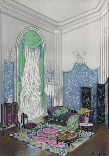 Interior. Illustration from L'Imprimerie et la Pensee Moderne (Bulletin Officiel des Maitres Imprimeurs, Paris, 1928).