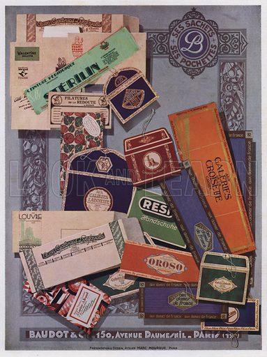 Packaging designs by Baudot et Cie, Paris. Illustration from L'Imprimerie et la Pensee Moderne (Bulletin Officiel des Maitres Imprimeurs, Paris, 1928).