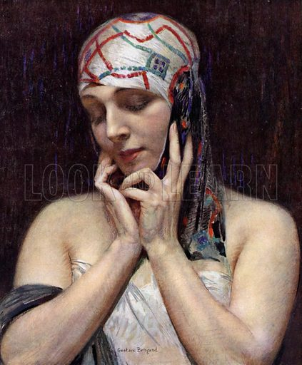 Meditation. Illustration from L'Imprimerie et la Pensee Moderne (Bulletin Officiel des Maitres Imprimeurs, Paris, 1928).