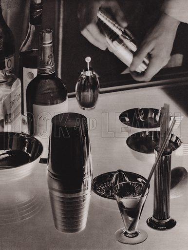 Making cocktails. Illustration from L'Imprimerie et la Pensee Moderne (Bulletin Officiel des Maitres Imprimeurs, Paris, 1928).
