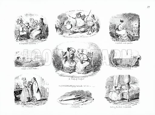 Comfort. Illustration for Scraps and Sketches by George Cruikshank (no publisher's name, c 1885).  This is a reprint of pages that originally appeared between 1828 and 1832.