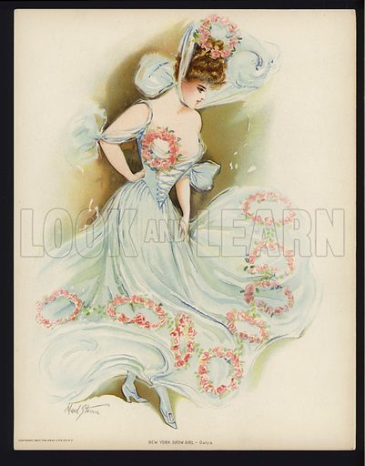 Daly's.  One of a set of six large prints of New York showgirls, 1907. In unusually fine condition.