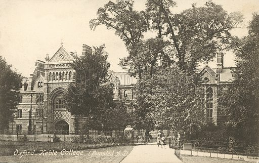Keble College, Oxford.  Postcard, early 20th century.