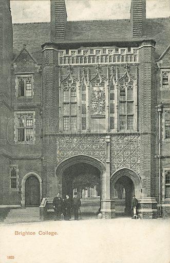 Brighton College.  Postcard, early 20th century.