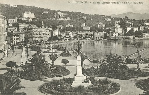 Santa Margherita Ligure, Italy.  Postcard, early 20th century.