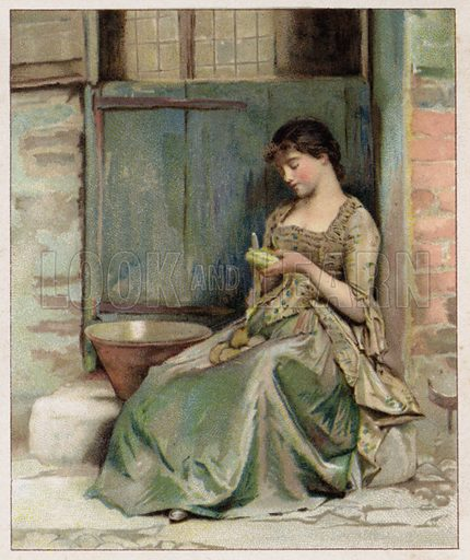 Sally in our Alley.  Illustration for booklet, Sally in our Alley (Castell Brothers, c 1890).