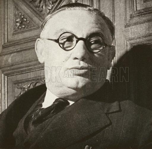 Ernest Bevin, portrait, c 1940.
