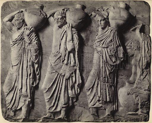 North frieze, Athens Museum.  Illustration for Le Sculptures du Parthenon (Editions Tel, c 1930).  Gravure printed.  Photo credit: Alinari.