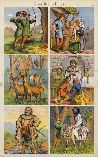 Bold Robin Hood.  Illustration for The Prince of Nursery Playmates (Sampson Low, c 1885).